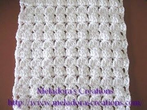 Youtubecroche : Cluster Stitch Scarf - Crochet Tutorial - YouTube