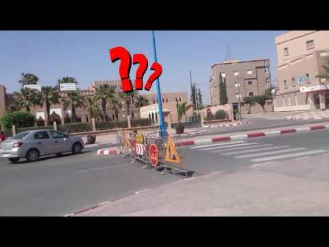 خطر مروري بشارع الحسن الثاني
