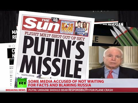 Talking headlines: Tabloids, TV, McCain blame Putin for Malaysia MH17 tragedy