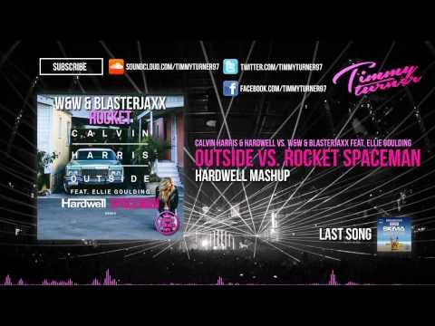 Calvin Harris vs. Hardwell vs. W&W & Blasterjaxx - Outside vs. Rocket Spaceman (Hardwell Mashup)