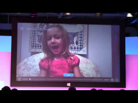 Microsoft Surface 2 Low Light Skype Webcam Demo With Panos Panay