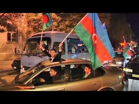 Azeri President Aliyev extends 10-year rule with landslide election victory