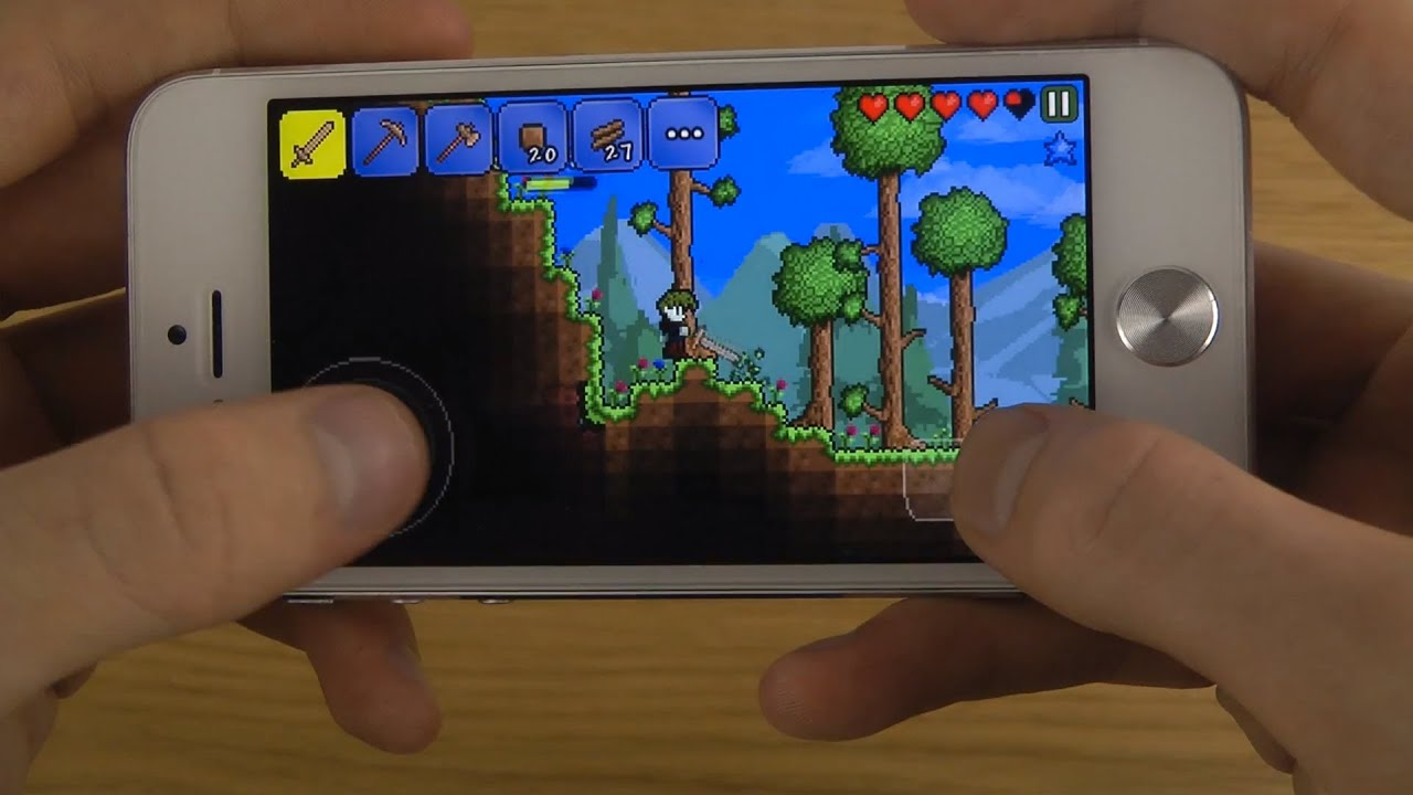 terraria iphone 5 ios 7 beta 6 hd gameplay review