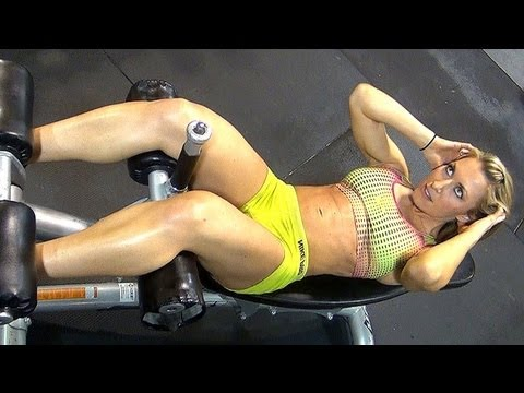 "Women's Intense ""SIX-PACK"" ABS Gym Workout!!! w Kaycie Davis, Part 2"