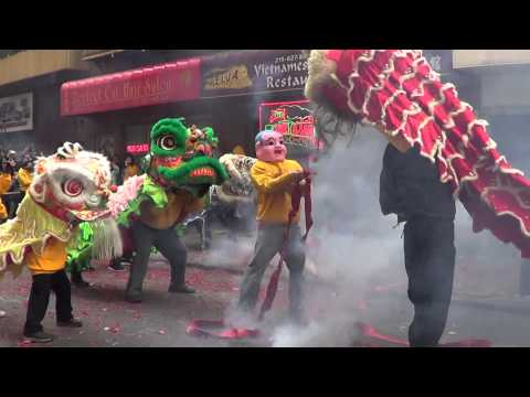 Philadelphia Chinatown Chinese New Year 2014  Lion Dance 舞獅 馬 午 農曆新年