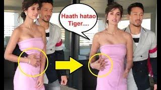 Disha Patani UNCOMFORTABLE Moment With Tiger Shroff At Baaghi 2 Promotion