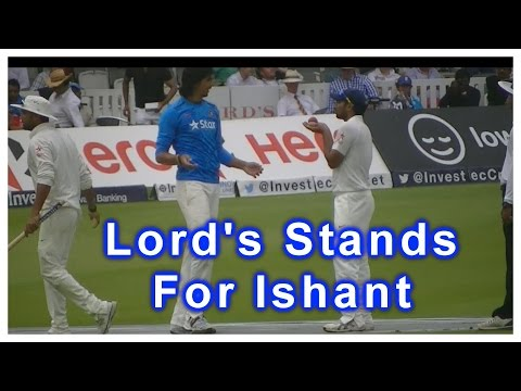 Ishant Sharma's Standing Ovation for 7 wickets vs England in 2nd Test match at Lords
