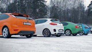 Сравниваем:Ceed GT,Octavia RS,Leon FR,Focus ST.