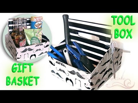 0 Last Minute DIY Fathers Day Gift   * Mustache * Gift Basket & Tool Box