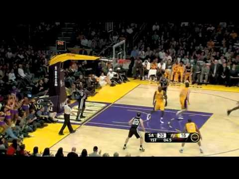 NBA San Antonio Spurs Vs LA Lakers Game Recap 02/03/2011