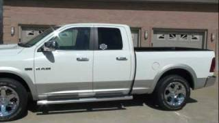 2009 DODGE RAM 1500 LARAMIE QUAD CAB 4X4 HEMI FOR SALE SEE WWW SUNSETMILAN COM videos