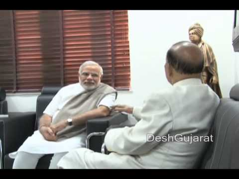 Maharashtra Shiv Sena leader Manohar Joshi calls on Gujarat CM Narendra Modi