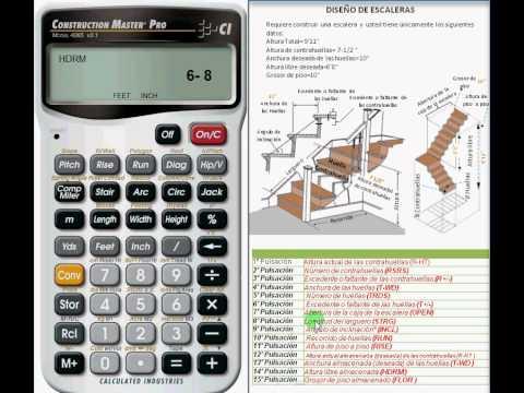 Dise o de una escalera con la calculadora construction for Como calcular una escalera