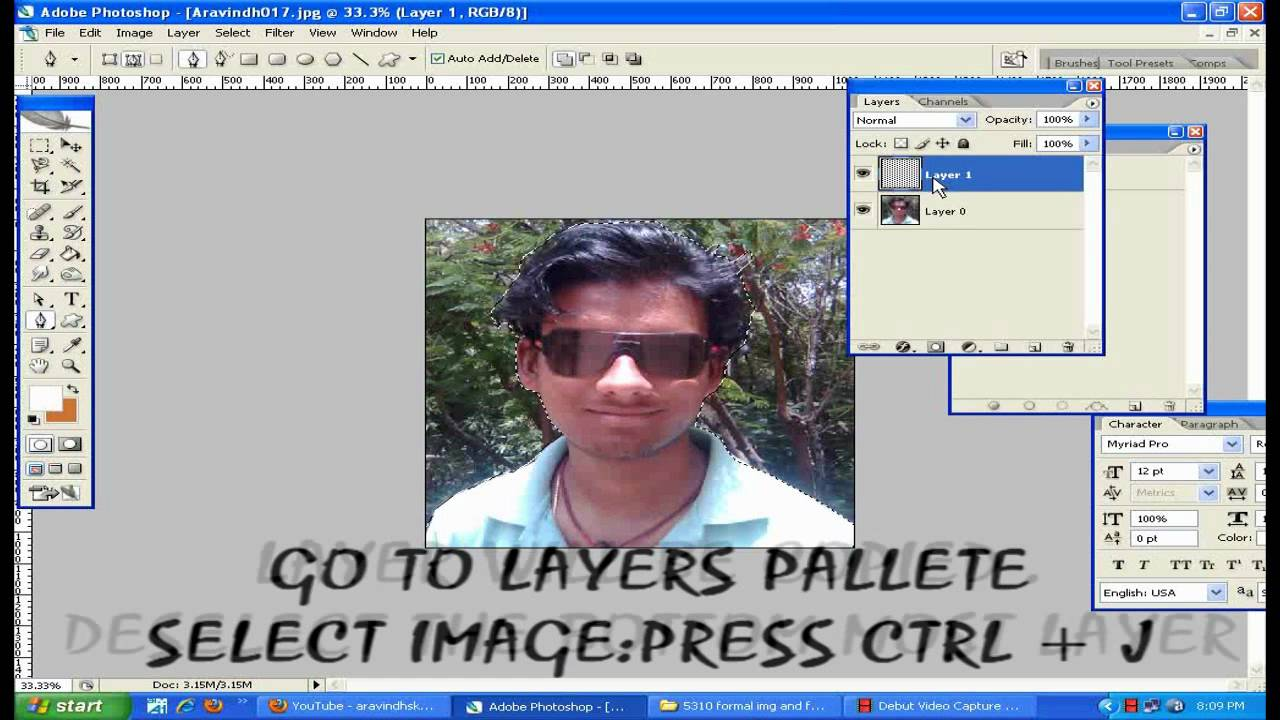 How to create a passport size photo in photoshop - YouTube