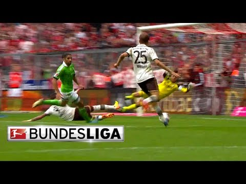 Bayern Munich's Thomas Müller Scores Winning Goal Against Wolfsburg
