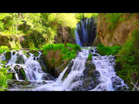 Relaxing Nature Sounds - Black Hills Waterfall