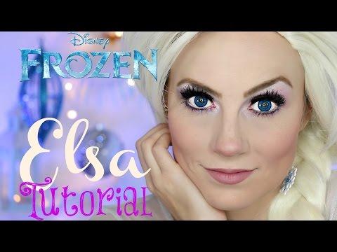 Disney's Frozen - Queen Elsa Halloween Makeup Tutorial | Angela Lanter