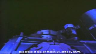 UFO At International Space Station, March 24, 2014, UFO