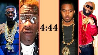 Rappers React To Jay-z's 4:44 Album Part 2 (Nas Young Thug 50 Cent Diddy Future Floyd Mayweather)