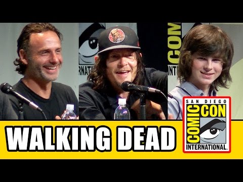 The Walking Dead Comic Con 2015 Panel - Andrew Lincoln, Norman Reedus, Steven Yeun