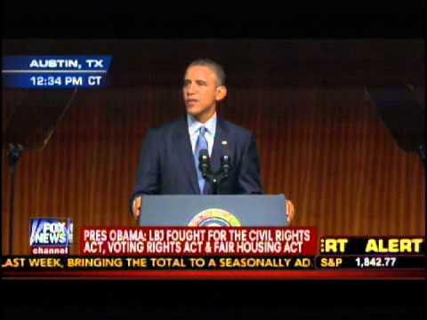 President Obama Remarks on LJB Civil Rights 50th Anniversary