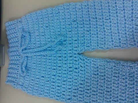Pantalones tejidos en crochet para bebé - Imagui