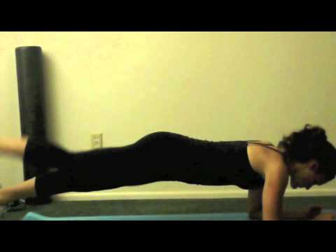 Prone Plank with Alternating Leg Lift (level 2)