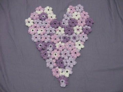 Flower Puff Heart - Crochet Tutorial - YouTube