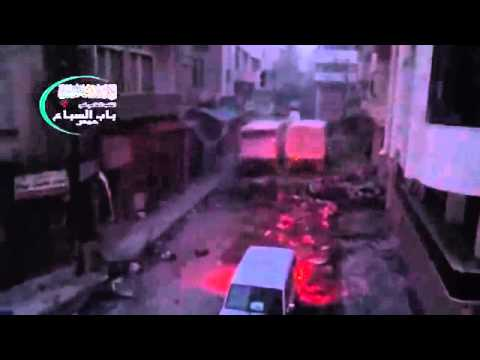 Syria||Homs|| aid convoy under fire2-8-2014