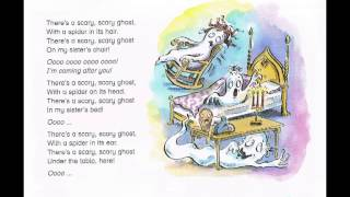 There is a scary ghost song, song for children