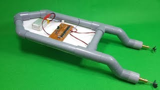 How To Make RC Boat Twin 180 Motor Using PVC Pipe