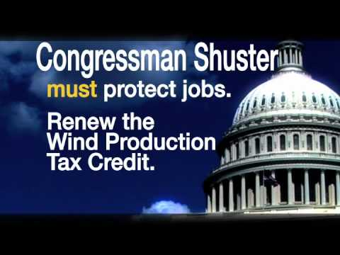 Congressman Shuster:  Save Wind Industry Jobs