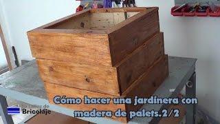 Jardinera con madera de palets 2/2