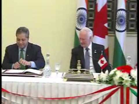 India-Canada signs three MoU