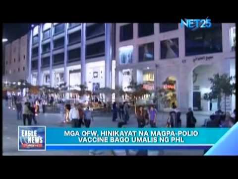 POEA encourages OFWs to take polio vaccines