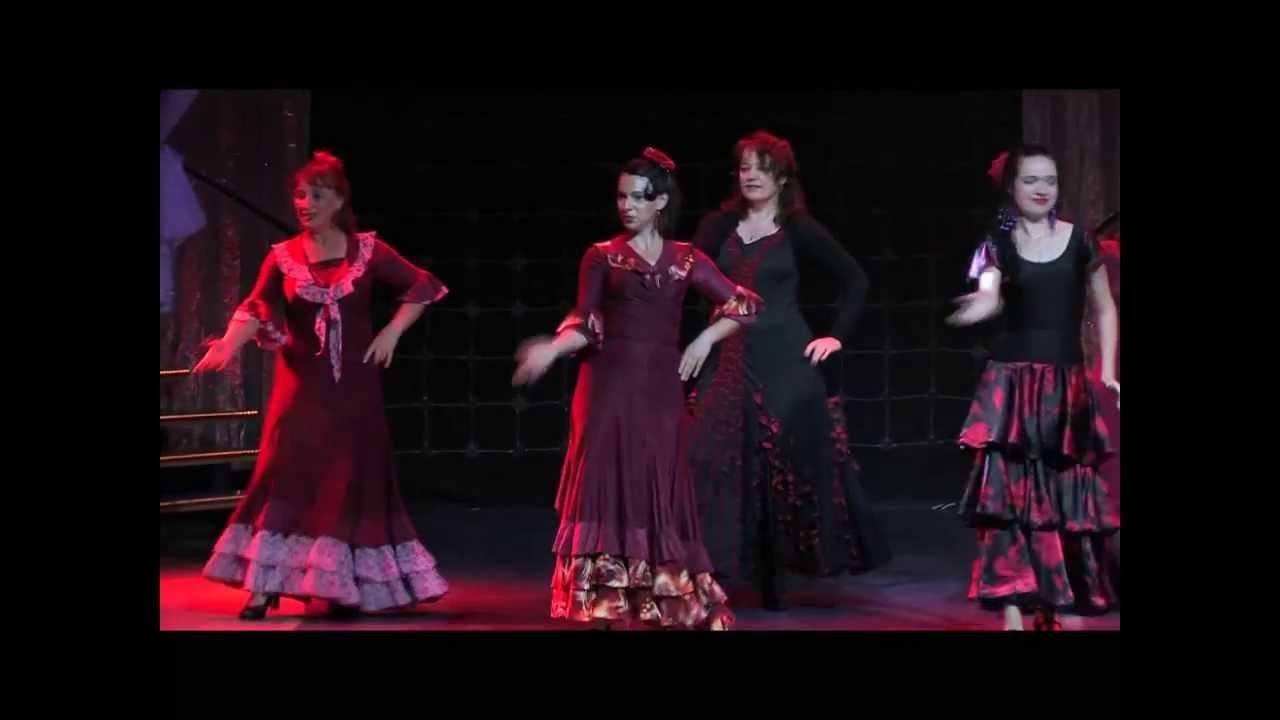 Отчетный концерт  02.06.2013 в Гигант-холле. Видео танца Фламенко.