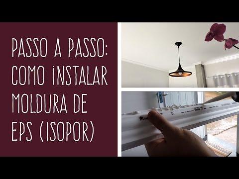 Como instalar Molduras de EPS (Isopor)