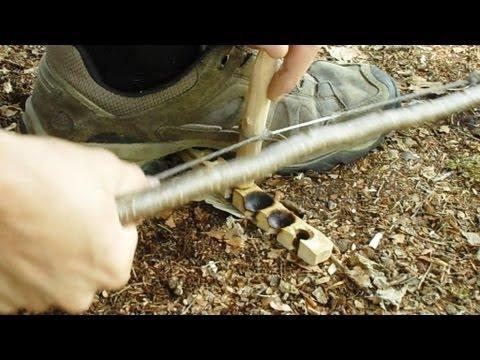 Anleitung Feuerbohren mit Schnürsenkel
