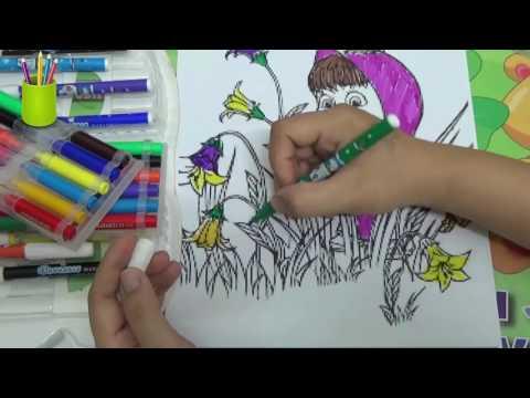 Tô Màu Gấu Masha Và Cô Bé Siêu Quậy - Colorings Masha and The Bear 6