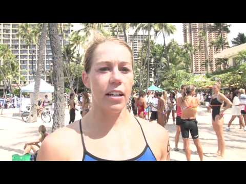 Merritt Morris Post Race - 2011 Waikiki Rough Water Swim