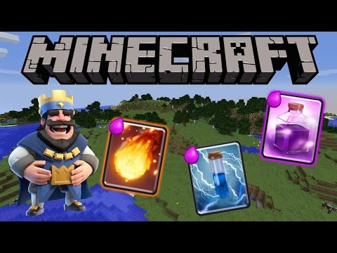 CLASH ROYALE IN MINECRAFT! | 1.11 + 1.10 Only One Command | Spells | NO MODS!