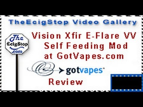 TheEcigStop Live Review of GotVapes Vision VV Mod EFlare