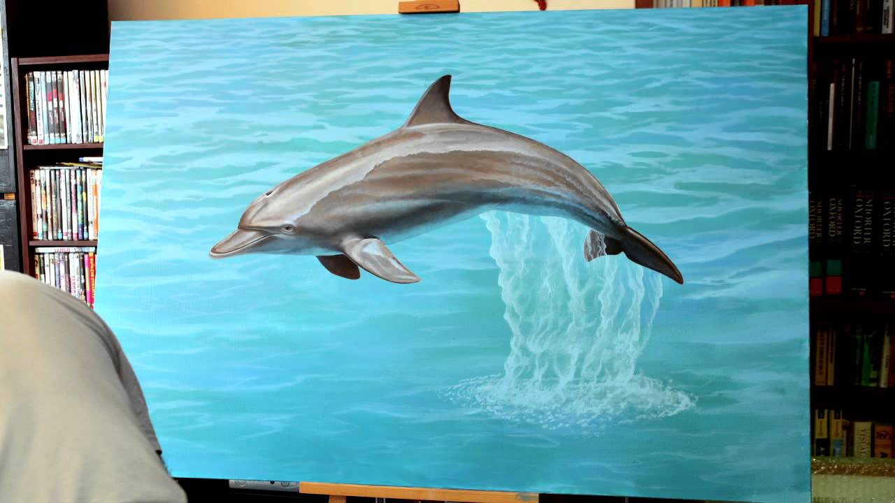How To Paint A Dolphin Youtube