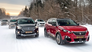 Peugeot 3008, Kuga, Tiguan, Sportage и Forester. Испытание холодом. Тесты АвтоРЕВЮ.