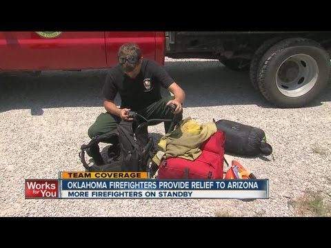 OK firefighters help with Arizona wildfires