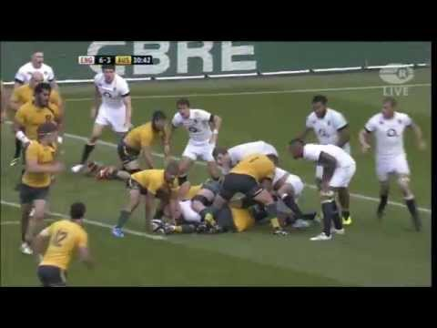 England v Wallabies rugby highlights