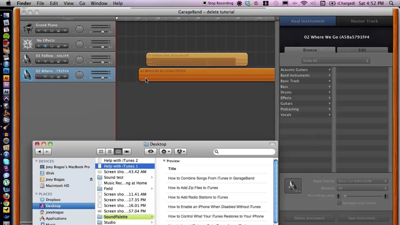 HOW TO CUT MUSIC ON GARAGEBAND 2018 | Version 10.2.0 - …