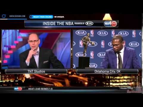 [HD] Rare Kevin Durant MVP interview