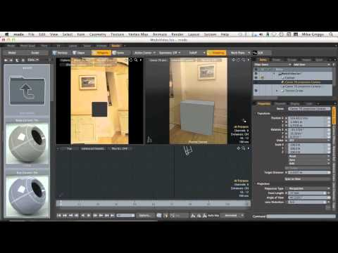 (2 of 5) Add detail using projection mapping in modo