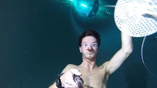 Testing some amazing freediving goggles at Y-40 - 40m./137ft.